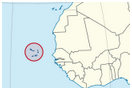 Cabo verde map